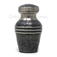 Harlow Black Keepsake Urn for Funeral Ashes, Small Brass Cremation Urn Uk