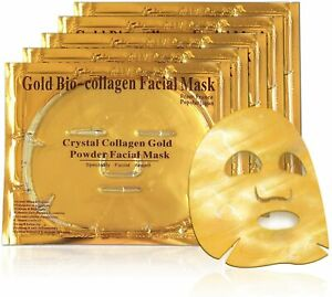 💙24K Gold Bio Collagen Face Mask Wrinkle Tired Crow Feet Puffy Eyes Treatment💙