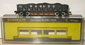 Bachmann N Gauge 5024 Black Outside Braced Gondola 7226 Wabash
