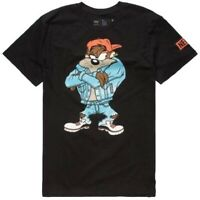 Neff Looney Tunes Taz Double Sided Black Men's T-Shirt New
