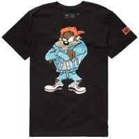 Neff Looney Tunes Taz Double Sided Black Men's T-Shirt New