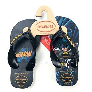 Havaianas DC Comics Toddler Boys Black Batman Graphic Flip Flop Sandals 10C