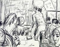 """DDR-Kunst. """"Kleines Kolloquium"""", 1972. Dieter GOLTZSCHE (*1934 D), handsigniert"""