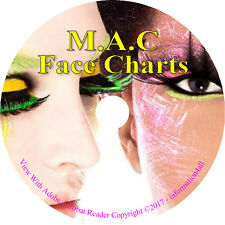Makeup Face Charts 1700+ MAC Cosmetic Training Charts Guide Costume Looks on CD