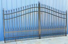 On Sale! Inc Post Pkg Driveway Gate # 1084 11' or 12' Wd Steel Home Security