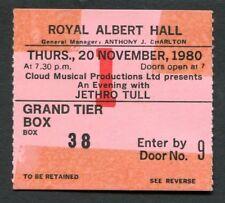 1980 Jethro Tull concert ticket stub Royal Albert Hall London UK  Storm Watch