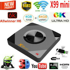 X99 MINI 6K Android 9.0 Smart TV BOX 4GB 64GB Quad Core HDR 5G WiFi Media H.265