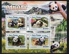 SAO TOME  2016 ASIAN FAUNA PANDAS SHEET  MINT NH