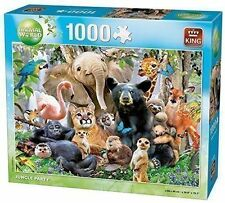1000 Piece Animal World Jigsaw Puzzle Toy - JUNGLE PARTY ANIMALS 05484