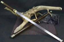 High Quality KungFu Stick Sword Katana Sharp Damascus Steel Blade Full Tang