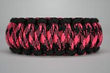 550 Paracord Survival Bracelet King Cobra Black/Pink/Rosa Noche Camping Tactical