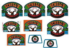 Lot of 9 Different 1960s-70s Schells Beer labels Tavern Trove New Ulm MN