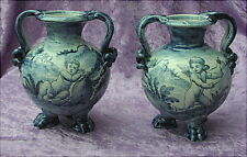 2 vecchie faience vasi Ulisse Cantagalli Firenze Firence MAJOLICA