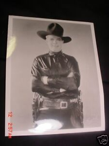 Early Cowboy Silent Movie Star HOOT GIBSON Rare 8x10 PHOTO From Glass Negative