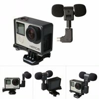 Gopro Action Camera Microphone 3.5mm Windshield Wind Cancellation Camcorder Set