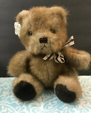 Russ Berrie Picadilly Bear 9� Brown Plaid Bow Original Russ tag