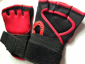 NEW MENS GEL WEIGHT LIFTING DOUBLE PADDED GLOVES GYM CYCLING TRAINING SPORTS