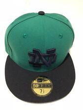 Notre Dame Fighting Irish New Era 5950 Fitted Hat Cap Green Navy Blue mens 7 1/2