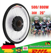 """500/800w 26"""" 36v E-Bike transformación frase Elektro bicicleta rueda trasera motor conversion set"""