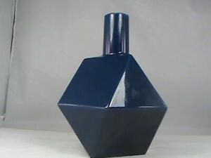 Super Modern Square Faceted Trianular Blue Porcelain Ball Vase Bottle MCM L@@K!