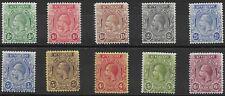 St. Vincent 1921-32 KGV SG131/137 part set to 6d   Mint Hinged