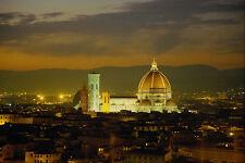 698084 vista notturna di FIRENZE ITALIA a4 foto stampa