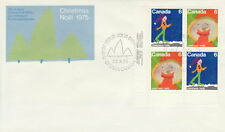 CANADA #674-675 6¢ CHRISTMAS SANTA CLAUS LL PLATE BLOCK FIRST DAY COVER