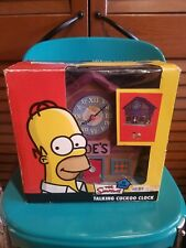 "HOMER SIMPSON TALKING ""WOO-HOO"" CUCKOO CLOCK MOE'S TAVERN 2005 TESTED WORKING!!"