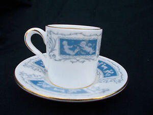 Coalport REVELRY.  Coffee Cup and Saucer. {Demitasse}