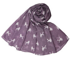 The Olive House® Womens Poodle Dog Scarf Purple