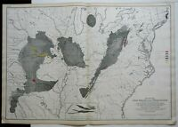 Coal Fields of the United States Appalachia Illinois Texas 1874 Bien large map