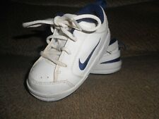Children'S Nike Athletic Shoes-Size 6Cw-White-Blue Trim-Very Clean!