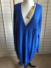 DG2 DIANE GILMAN Womens Long Sleeve BLUE Cardigan Plus Size 2 XL NWT
