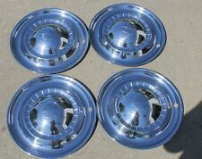 "Set of 4 1951 Kaiser Deluxe 15"" Hubcaps Wheel Covers OEM 51 Vintage"