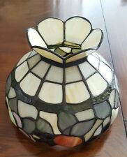 Stained Glass Lamp Shade White with Fruit accents