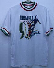 Original 1998 World Cup Soccer Futbol t-shirt Italia Italy 98- Men's Shirt EUC
