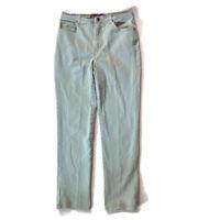 Gloria Vanderbilt Size 10 Long Pale Green Straight Leg Stretch Jeans