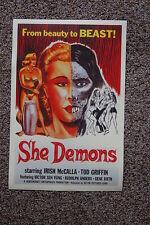 She Demons Lobby Card Movie Poster Irish McCalla Tod Griffin