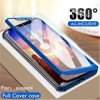 For Xiaomi Mi 8 Lite Mi A2 Lite Play 360° Full Slim Cover Case + Tempered Glass