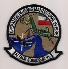 Usn Va-95 Op Praying Mantis 1988 patch A-6 Intruder Attack Sqn
