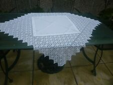 More details for antique hand made linen and lace tablecloth