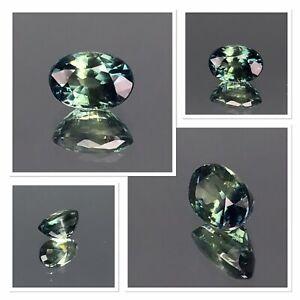 Australian Bi-colour sapphire Oval Cut Gemstone 0.85 Carat Blue Teal Aqua AAA+
