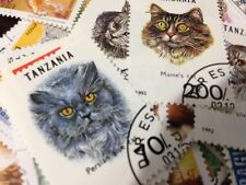 Animal-themed 1 PCS random Stamp Worldwide Famous Cats Prairie Carnivores E28B