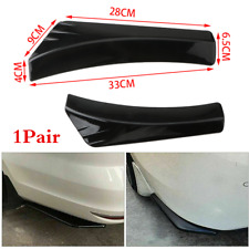 1Pair Glossy Black Car Rear Bumper Fin Canard Splitter Diffuser Spoiler Lip ABS