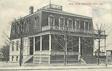 Vintage Postcard M.M. Club Ellwood City PA Pennsylvania Beaver lawrene counties