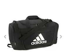 BLACK/WHITE adidas Defender III Small Duffle Bag (D)
