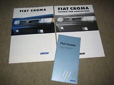 FIAT CROMA opuscolo brochure prospetto di 12/1993, 40 PAGINE + LISTINO PREZZI