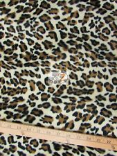 VELBOA FAUX FAKE FUR PUMA ANIMAL SHORT PILE FABRIC - Cream - SOLD BY THE YARD