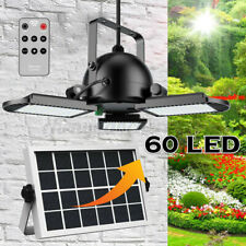 60 LED Solar Light Three Head Remote Control PIR Motion Sensor Flood