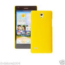 Custodia BACK GIALLA Cover Case per Huawei Ascend G700 Rigida Hard Plastica